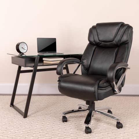 Big & Tall 500-pound Rated LeatherSoft Swivel Extra Wide Office Chair