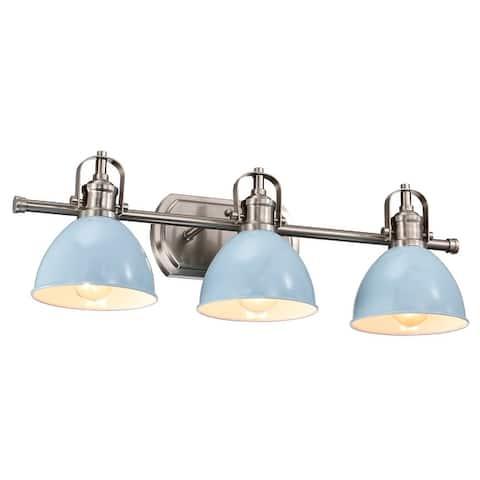 """3-Light Dimmable Bath Sconce Farmhouse Vanity-Light - 24""""x4""""x7.3"""""""