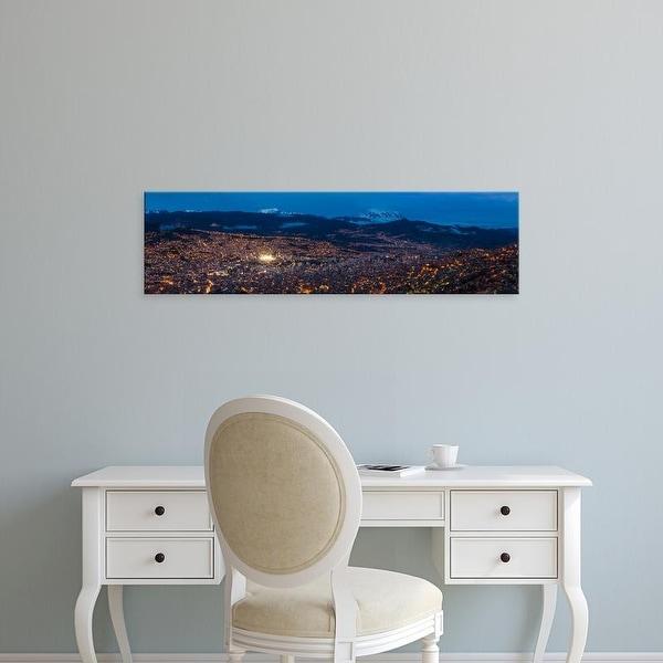 Easy Art Prints Panoramic Images's 'Aerial view of city at night, El Alto, La Paz, Bolivia' Premium Canvas Art