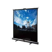 Monoprice Portable Pull-UP Projection Screen, White Fabric, 100 inch, 4:3