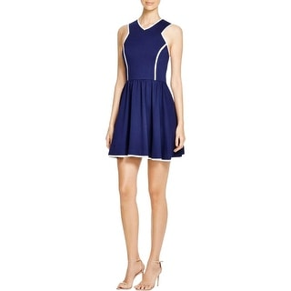 Aqua Womens Juniors Casual Dress Knit Pleated
