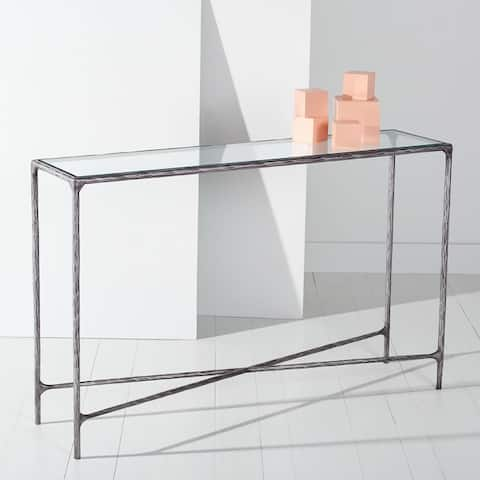 """SAFAVIEH Couture Jessa Forged Metal Rectangle Console Table - 48"""" W x 12"""" L x 30"""" H"""