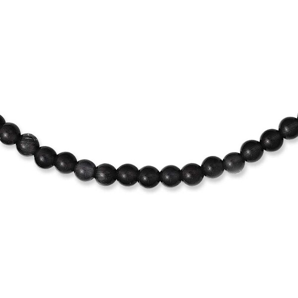 Chisel Stainless Steel Polished Lava Stone 20 inch Necklace (6 mm)