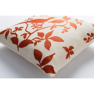 Decorative 18-inch Beale Down or Polyester Filled Throw Pillow