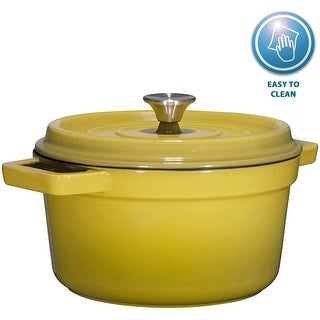 Bruntmor, Enameled Cast Iron Dutch Oven Casserole Dish 6.5 quart - Enameled Cast Iron Dutch Oven Casserole