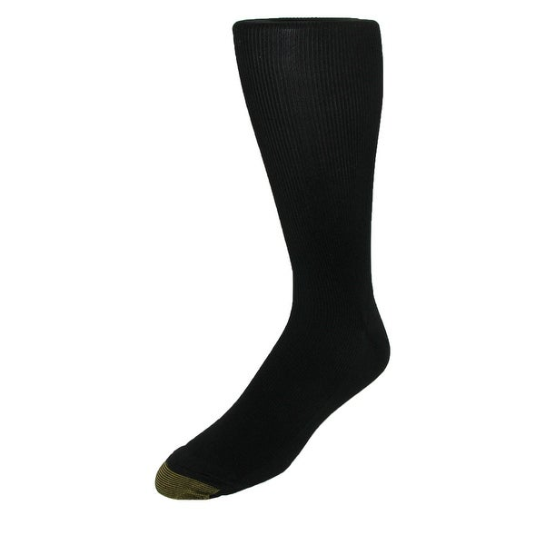 Gold Toe Men's Metropolitan Moisture Control Over the Calf Socks (Pack of 3), Shoe Size 6 - 12 1/2