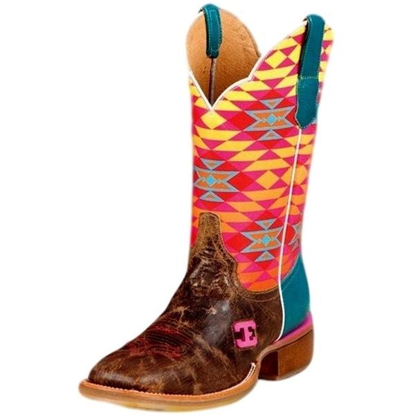 Cinch Western Boots Womens Cowboy Leather Fritzy Edge Tan