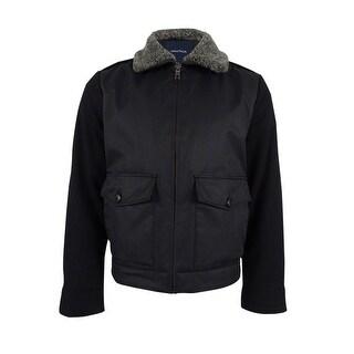 Nautica Men's Fleece-Collar Bomber Jacket