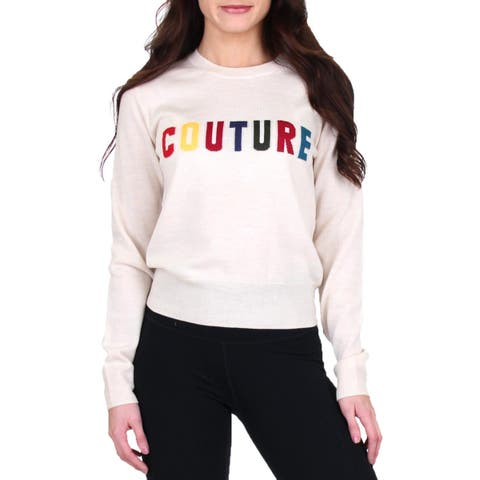 Juicy Couture Black Label Womens Pullover Sweater Wool Crew Neck