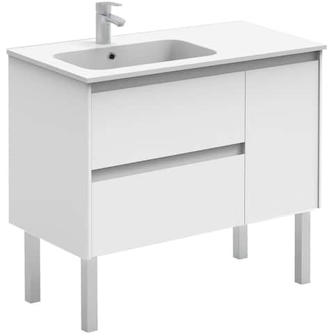 """WS Bath Collections Ambra 90F Ambra 47-1/2"""" Free Standing Double"""