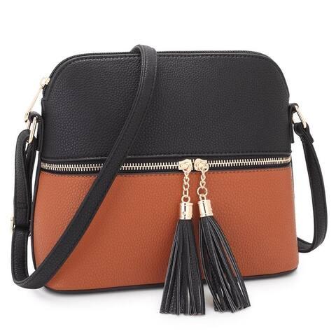 Dasein Women Fashion Crossbody Bag with Tassel