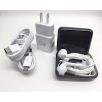Samsung AFC Fast Charger with Type C & Micro USB + Headset Stylus Kit - WHITE
