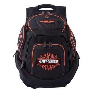 Harley-Davidson Mens Deluxe Backpack BP1900S-ORGBLK - Extra Large