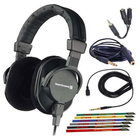 Beyerdynamic DT 250 250 Ohm Closed Dynamic Headphones Bundle with