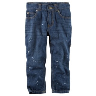 Carter's Baby Boys' 5-Pocket Straight-Fit Splatter Paint Carpenter Jeans- 3 Months
