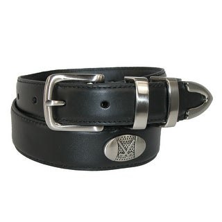 Aquarius Men's Oil Tanned Leather 4 Piece Belt with Golf Choncos