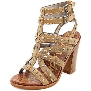 Sam Edelman Keith Open-Toe Leather Heels
