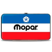 Mopar Chrysler Logo White Blue Red Black Hinged Wallet - One Size Fits most