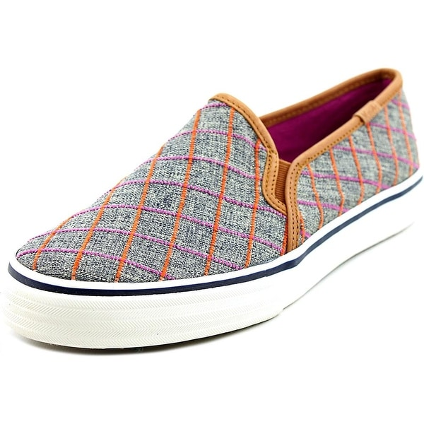 Keds Dbl Deck Window Women Plaid Navy Flats