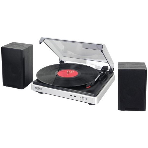 Jensen Jta-325 3-Speed Turntable With Stereo Speakers