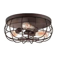 Millennium Lighting 5323 Neo-Industrial 3-Light Flush Mount Ceiling Fixture - N/A