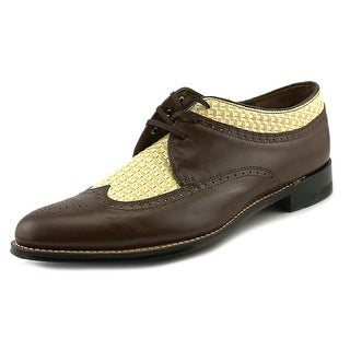 Stacy Adams Dayton Men Wingtip Toe Patent Leather Brown Oxford