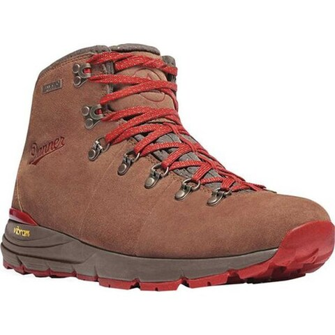 """Danner Women's Mountain 600 4.5"""" Hiking Boot Brown/Red Suede"""