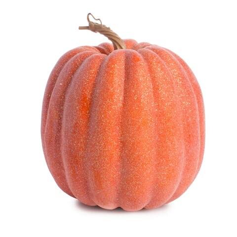 9pk Classic Decor Pumpkins Glitter Sequin Tinsel Foam Halloween USA SELLER