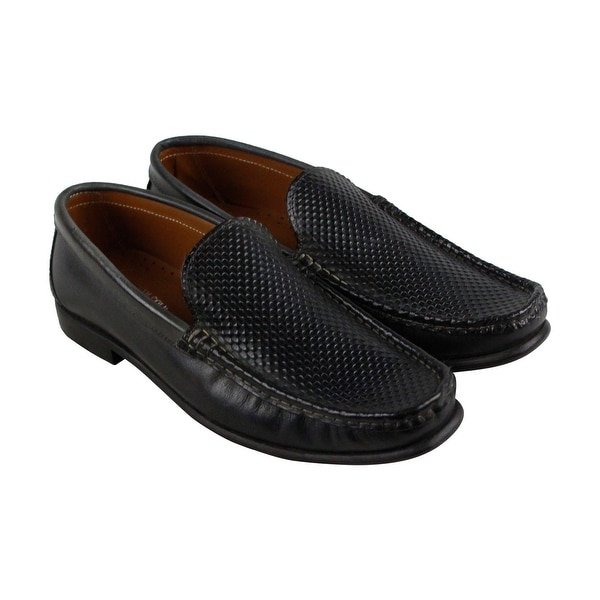Kenneth Cole New York Set The Zone Mens Black Casual Dress Loafers Shoes