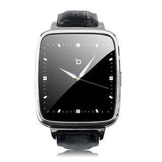 Bit S1s S1 Smart Watch Silver / Black Leather Strap Android