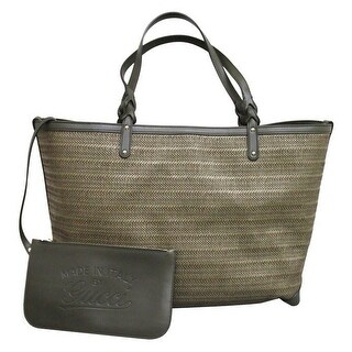 Gucci Craft Large Green Straw Tote Bag