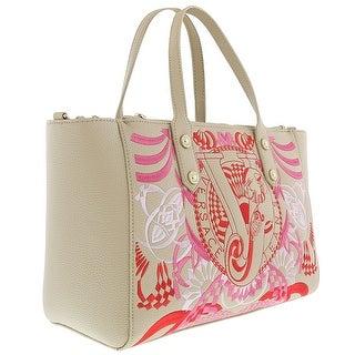 Versace EE1VRBBRA Ligt Brown Tote Bag W/ detachable and adjustable strap