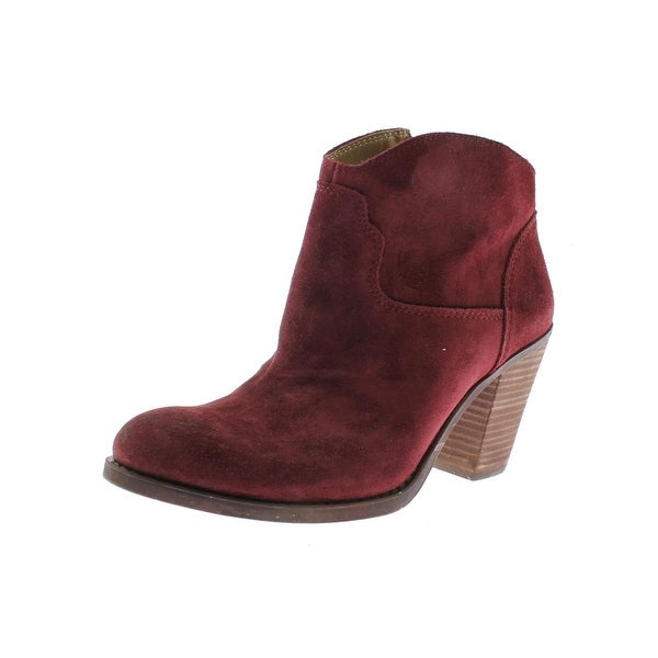 Lucky Brand Womens Eller Ankle Boots Stacked Heel