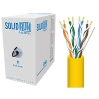 SolidRun by Sewell, Cat5e Bulk Cable, 250 ft., UTP, CMR, Yellow, Pull Box