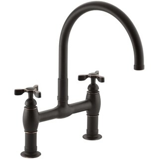 kohler k61303 parq deckmount kitchen bridge faucet