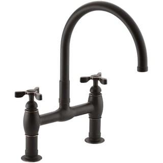 Kohler K-6130-3 Parq Deck-Mount Kitchen Bridge Faucet
