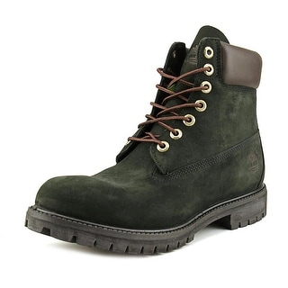 Timberland 6 In Men  Round Toe Leather Black Work Boot