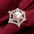 White Gold Pearl Infusion Ring - Thumbnail 3