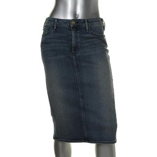 McGuire Denim Womens Confessional Whisker Wash Knee-Length Pencil Skirt - 29