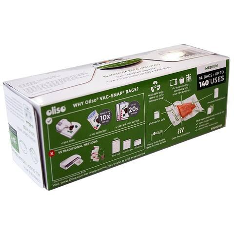 Oliso Pro 5002035 VAC-SNAP Bags, Medium, 1 Quart, 14 Bags