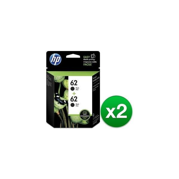 HP 62 2-Cartridges Black Original Ink Cartridges (T0A52AN)(2-Pack)