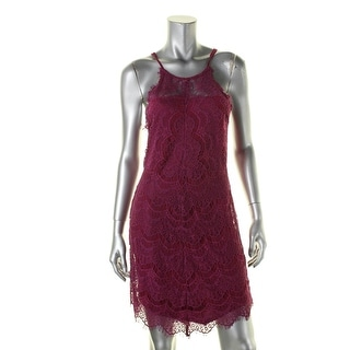 Free People Womens Juniors She's Got It Slip Dress Lace Back Buttons