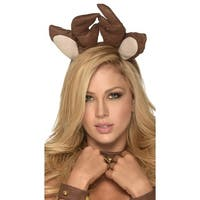 Rudolf Head Piece, Antler Head Piece - Brown - One Size Fits most