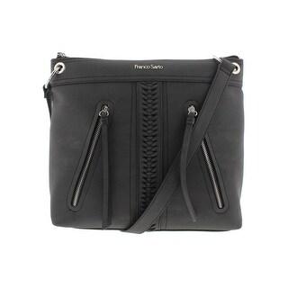 Franco Sarto Womens Abigail Crossbody Handbag Faux Leather Signature - LARGE
