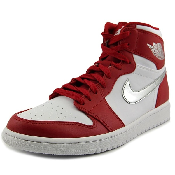 Jordan Air Jordan 1 Retro High Men Round Toe Leather Red Basketball Shoe