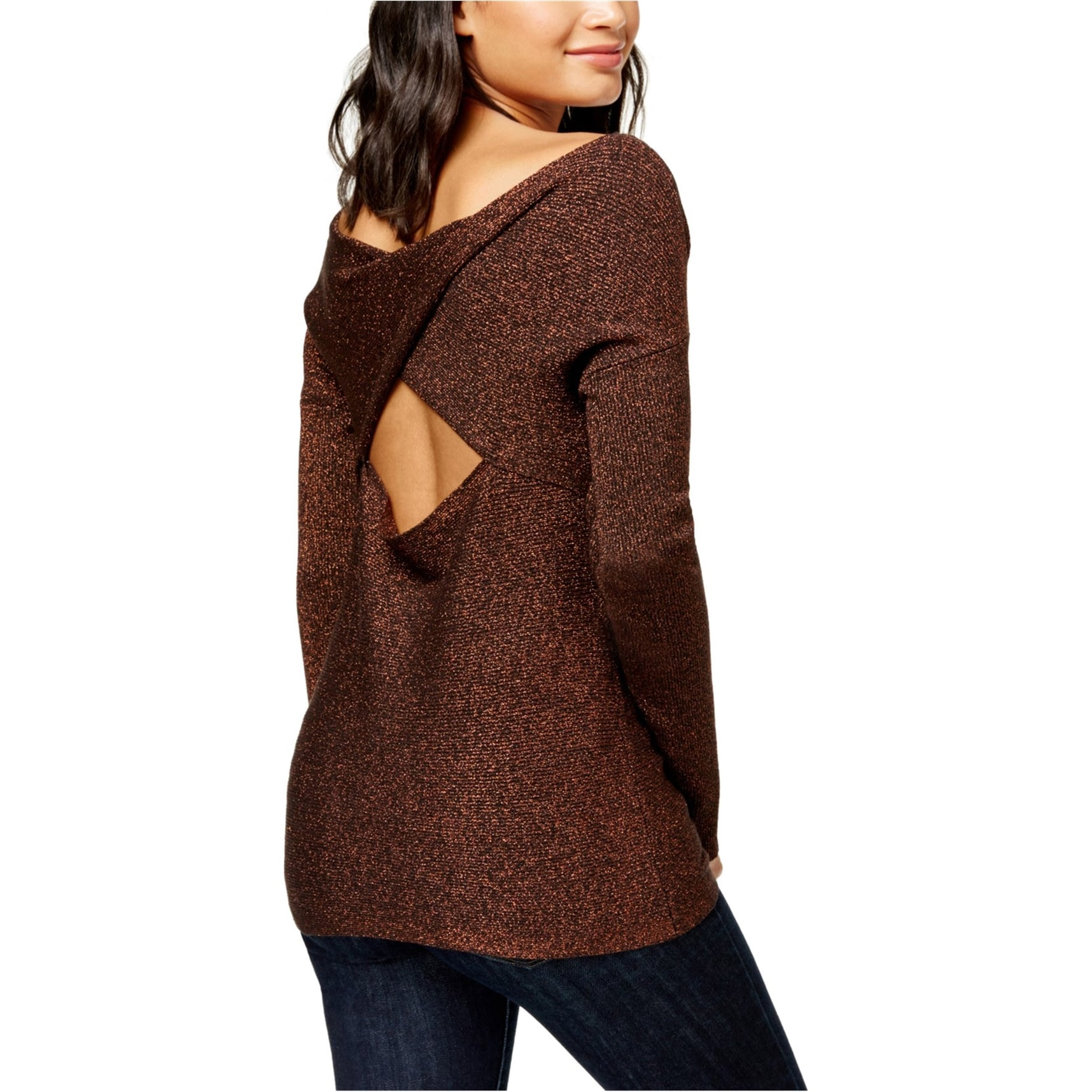 Bar IIIMulti-Crochet SweaterCreamM