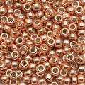 Toho Round Seed Beads 8/0 PF551 - Permanent Finish Galvanized Rose Gold (8g) - Thumbnail 0