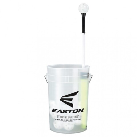Easton A162714 Baseball/Softball Tee Bucket w/ 30 9-inch Training Balls
