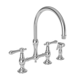 Newport Brass 9458 Chesterfield Kitchen Faucet with Side Spray