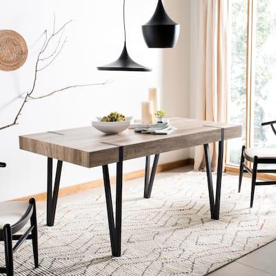 "SAFAVIEH Alyssa Mid-Century Industrial Dining Room Table - 59.1"" W x 35.4"" L x 29.5"" H"